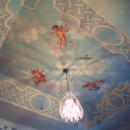Faux Painting Of Cherubs On Ceiling West Shore Construction