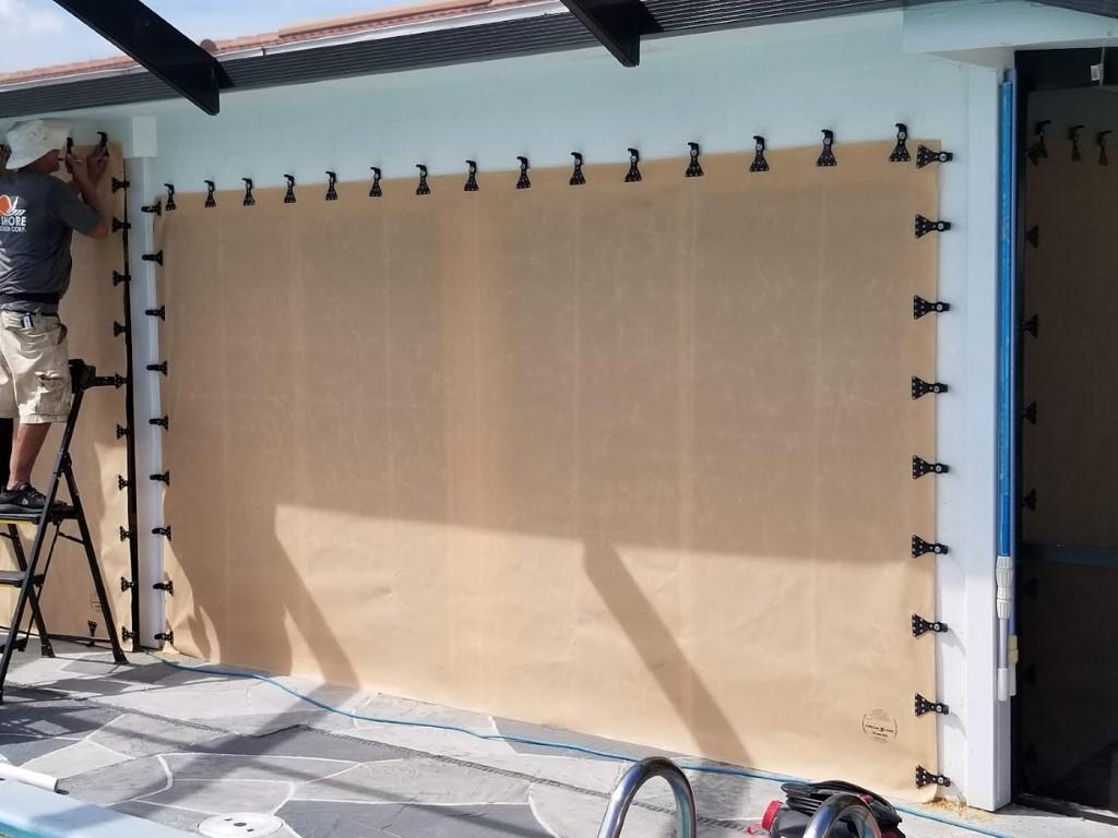 Hurricane Fabric Pool Lanai Install West Shore Construction