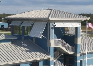 Bahama Shutters | Sports Complex | West Shore Construction