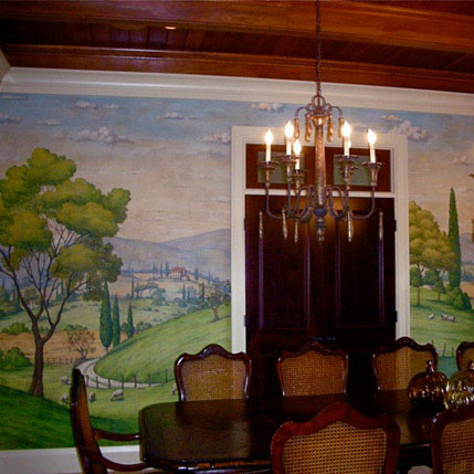 Faux Painting On Dining Room Wall West Shore Construction